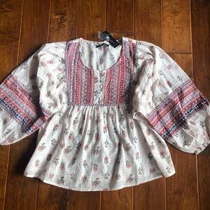 Romeo + Juliet Couture boho chic top NWT